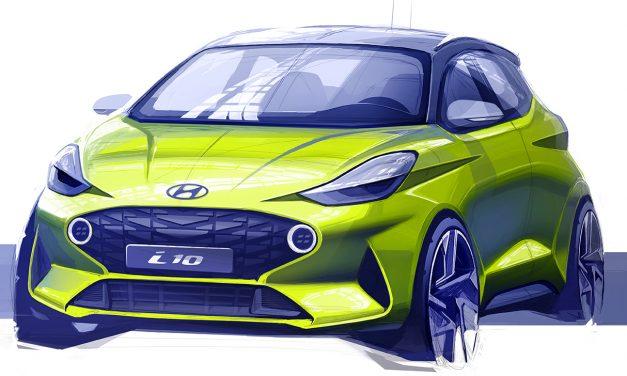 2020 model Hyundai i10'nun çizimleri paylaşıldı
